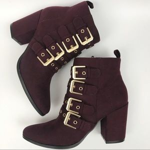 NEW Carlos Gamma Ankle Boot Syrah Booties 6